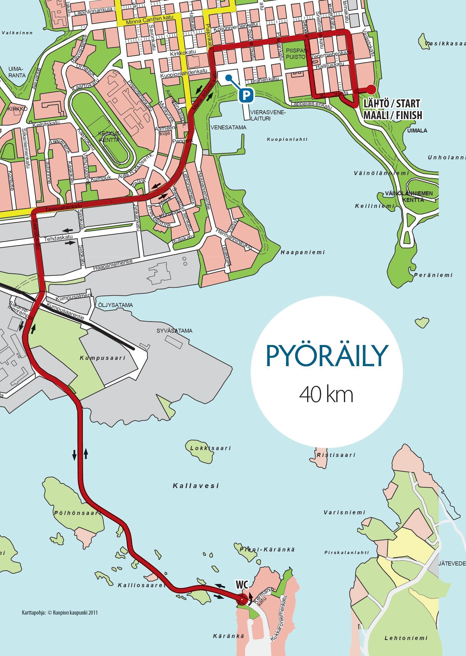 Kartat Kuopio Triathlon